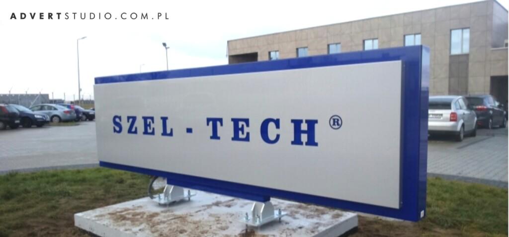 Pylon reklamowy LED Szel-Tech z Mielca