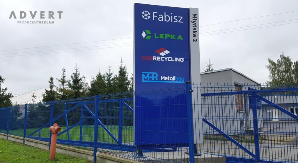 pylon reklamowy Fabisz- advert producent reklam