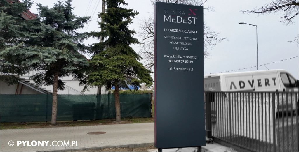 pylon reklamowy LED DLA MEDYCYNA ESTETYCZNA z Opola