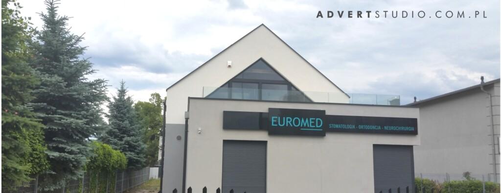 oznakowanie kliniki Euromed-producent reklam advert opole