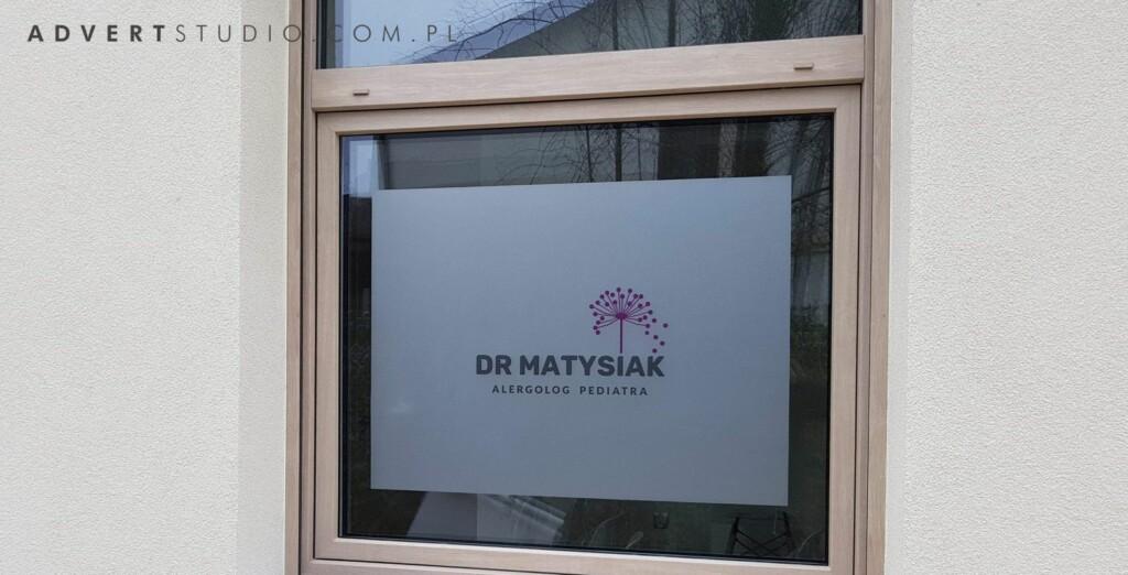 oklejenie witryn Matysiak