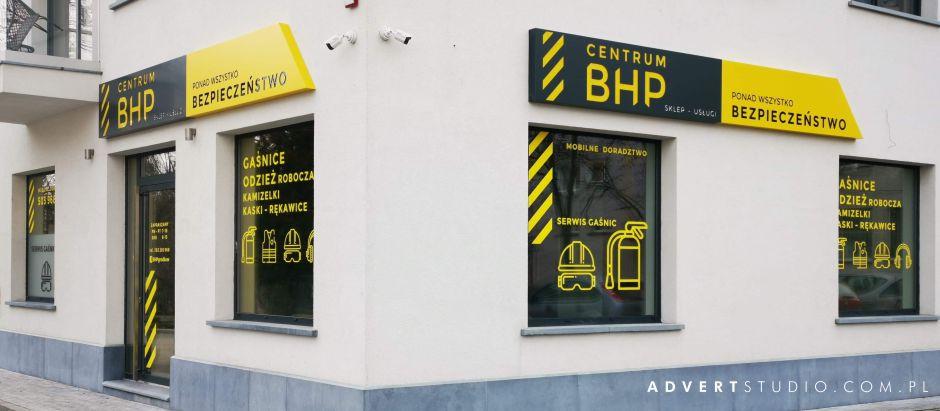 szyld reklamowy dla sklepu BHP