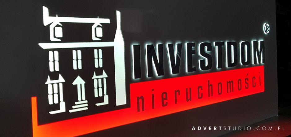 logo podświetlane do biura