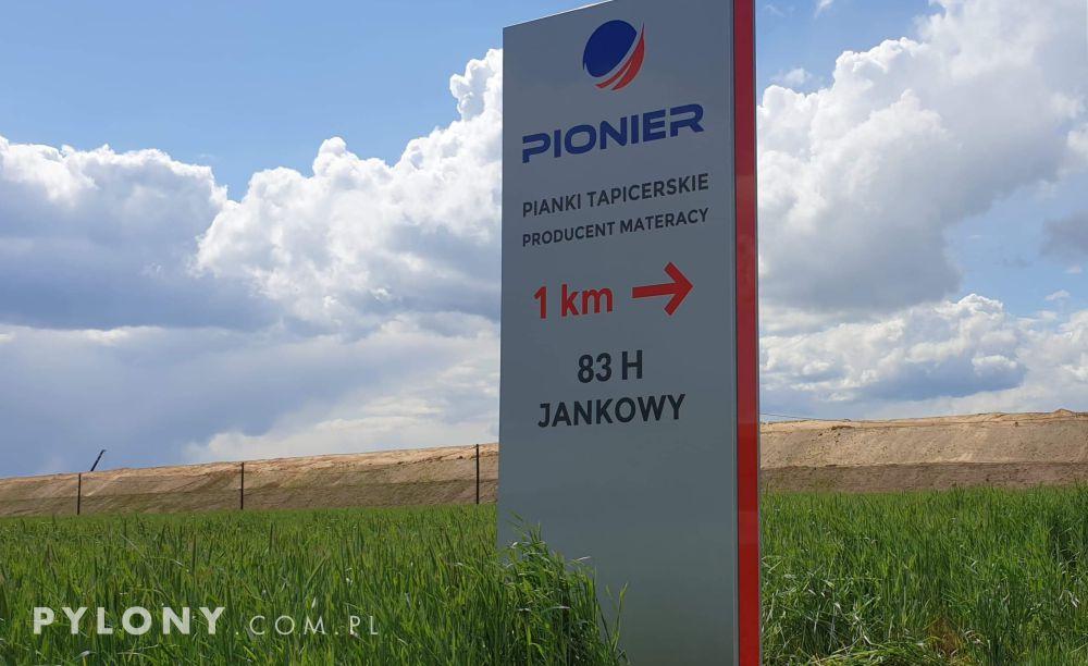 pylon reklamowy LED pionier