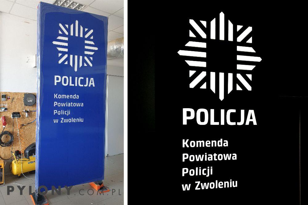 pylon LED dla POLICJI w Zwoleniu
