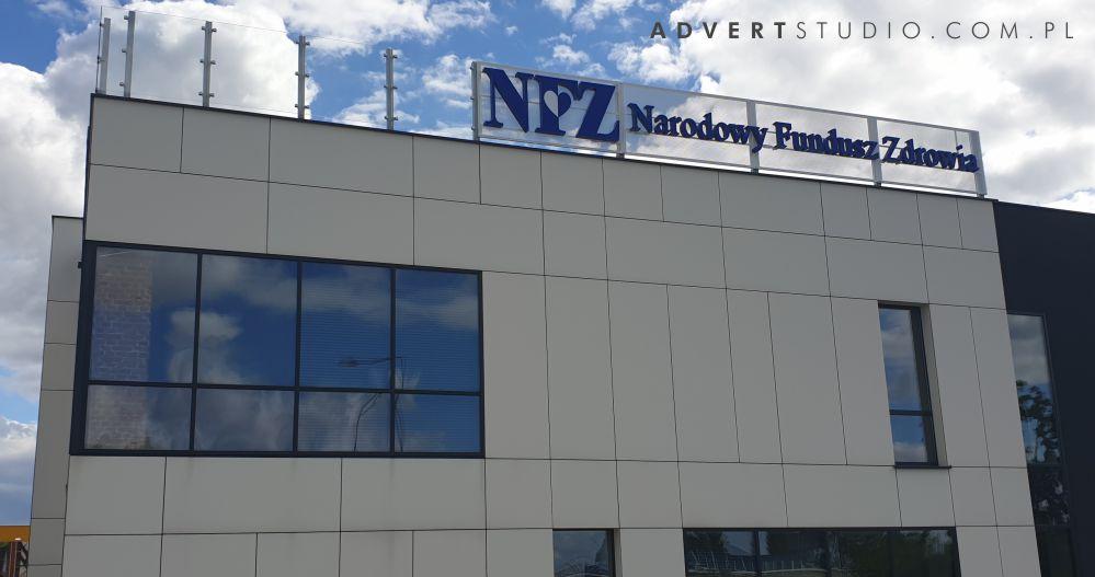 litery swietlne LED dla NFZ Opole