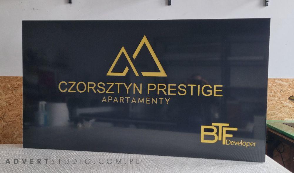 Szyld reklamowy Apartamenty Czorsztyn